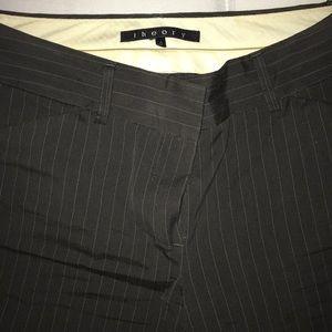 Theory dark grey pinstripe pants, size 0